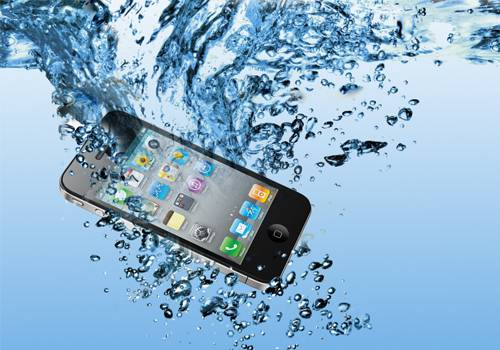 Iphone caiu na agua