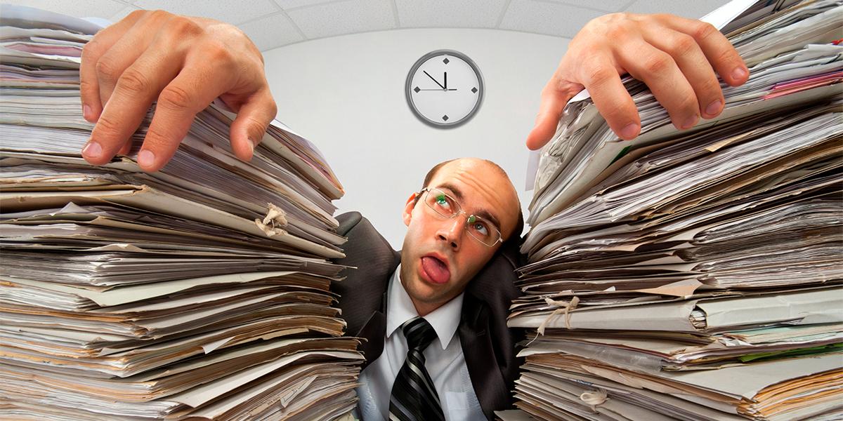 burocracia do departamento pessoal